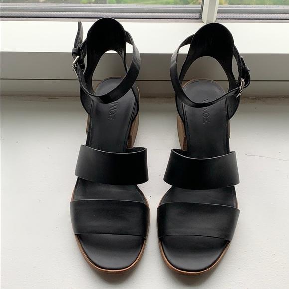 Vince Frida block heel sandals 8.5